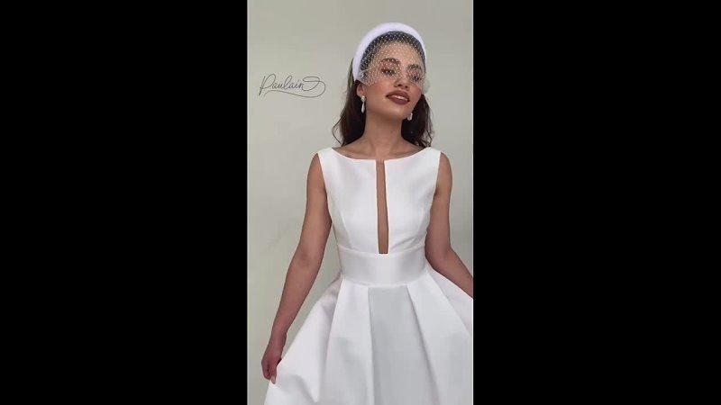 Свадебное платье модель Риз blackwhite коллекции MONROE бренда Paulain в Сарато