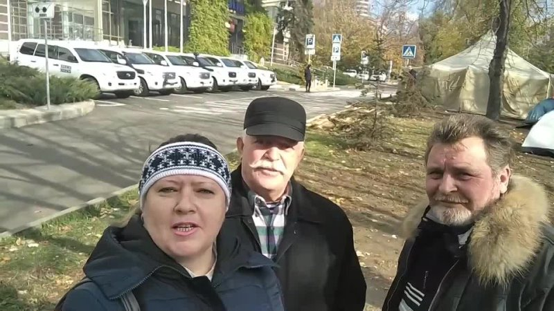 Бессрочная акция под резиденцией СММ ОБСЕ в Донецке пятница 22 10 21 года день восьмой Видео Оли Селецкой