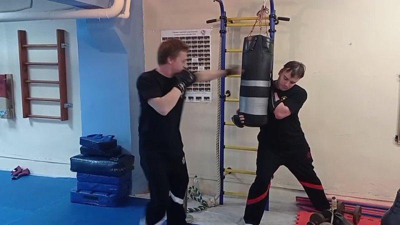 Stikhiya Wing Chun Работа на мешке