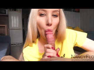 Beautiful blonde wanted me to cum in her mouth Nancy-Flo