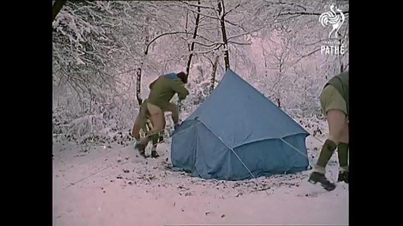 Зимний лагерь скаутов 1963