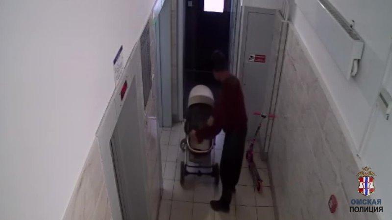 Циничная кража детской коляски и самоката