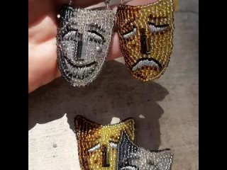 Серьги маски 🎭
