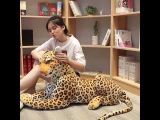 Лесной король пантера пардус ягуар многоразовый симулятор чучела диких животных гепард плюшевая черная пантера леопард мягкие