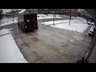 [Walt Gorczowski] UPS Delivery Guy vs. Icy Driveway
