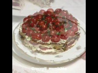 Кабачково - куриный тортик