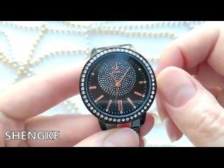 Женские наручные часы shengk розовое золото деловые кварцевые для девушек 2019