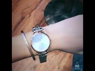 Женские кварцевые часы ультратонкие из нержавеющей стали