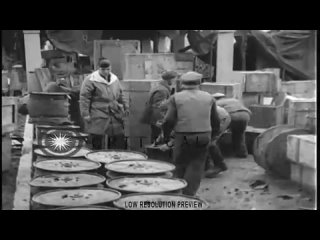 HD Stock Video Footage - Men unload signal equipment prior to the Yalta Conference in Crimea, Soviet Union during World War II