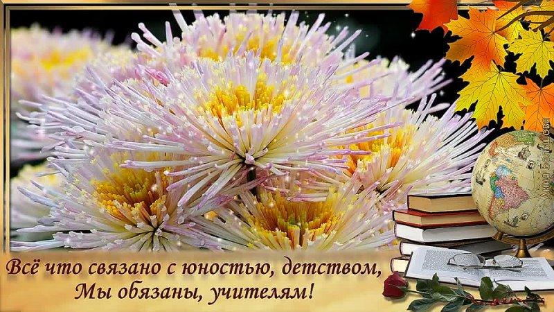 5 октября День учителя Спасибо учителям Красивое поздравление с Днем учителя Видео открытка mp4