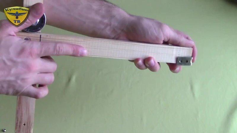 How to make the crossbow Flipper Как сделать арбалет обратной конструкции