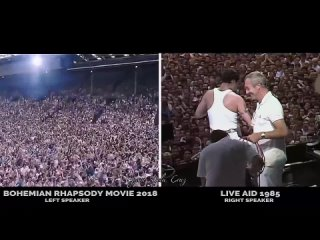 BOHEMIAN RHAPSODY MOVIE 2018 [ LIVE AID COMPLETE SONGS ] Side by Side with the QUEEN LIVE AID 1985