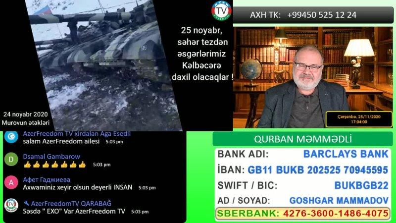 25.11.20 İlham Əliyevin Kəlbəcər sayıqlamaları.