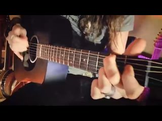 Country Blues Fingerpicking _ DEEP RIVER BLUES on the Martin DX Johnny Cash Guit