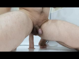 Asshole Sissy - Ass Fucking and Dildo riding in Bathroom (Session 5)