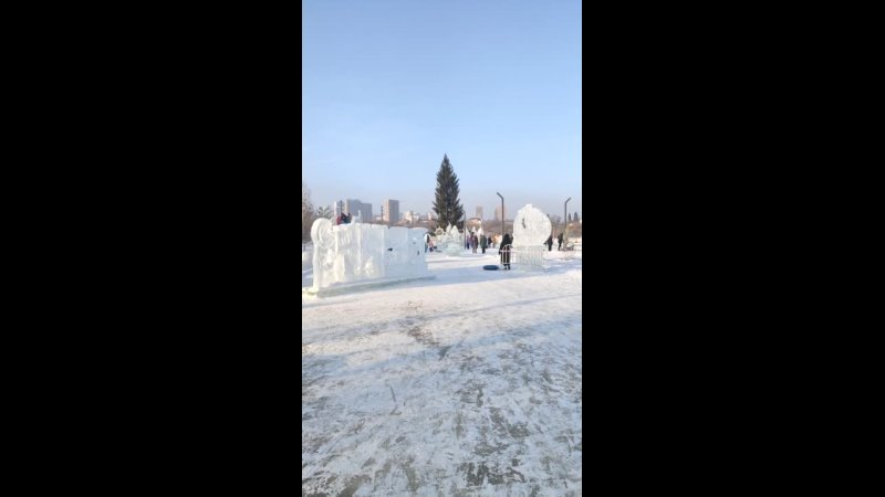 Ледовый городок Кашкадан.