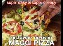 Maggi pizza recipe - maggi noodles pizza