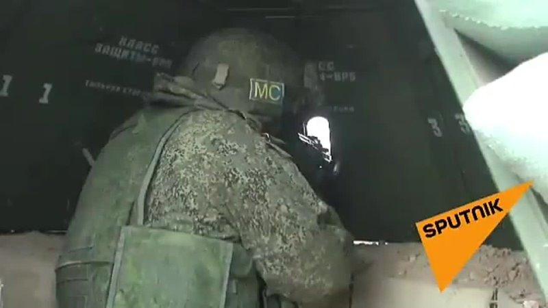 Позиции российских миротворцев в Нагорном Карабахе