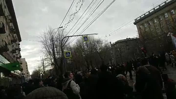 23 января 2021 г. Несанкционированное шествие. Волгоград. ч.2