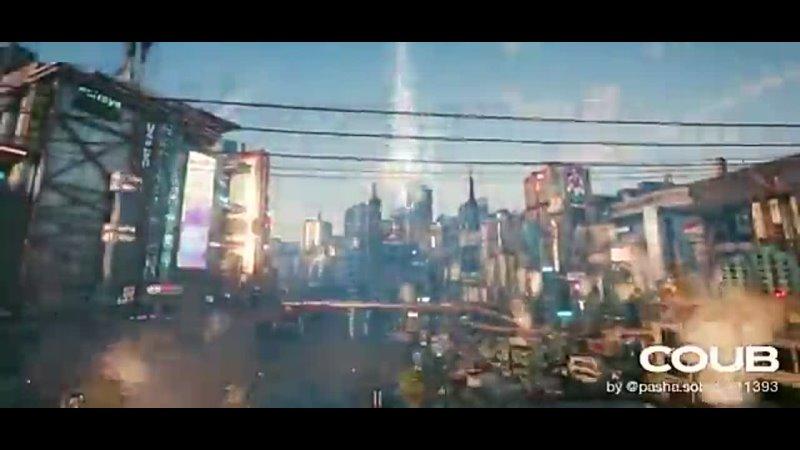 Night City, morning time-lapse