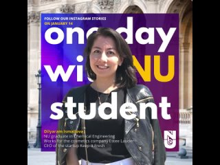 One Day with NU student - Dilyaram Ismailova