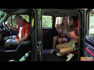 За проезд до города дали трахать молодые письки озабоченному таксисту