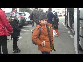 Прибытие очередной группы беженцев в Нагорный Карабах
