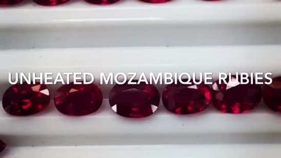 COLLECTION OF UNHEATED MOZAMBIQUE RUBIES