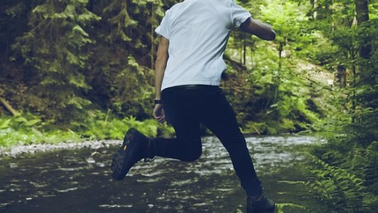 jump into the nature