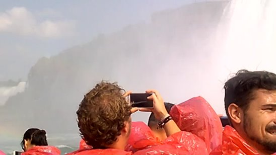 Niagara falls from Canadian side. Boat trip MAID OF THE MIST! Amazing!!!