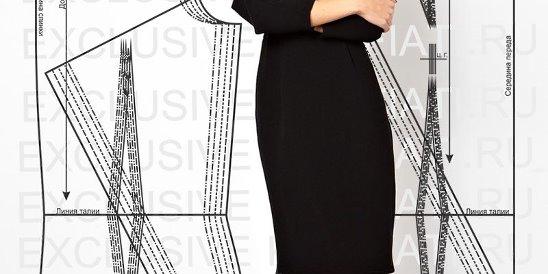 a172ceffbec6a89 Выкройка-основа платья для скачивания от А. Корфиати