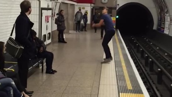 Epic London Underground Ping Pong Battle