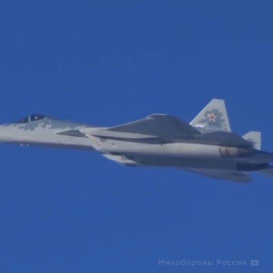 Уникальные кадры Су-57 в Сирии