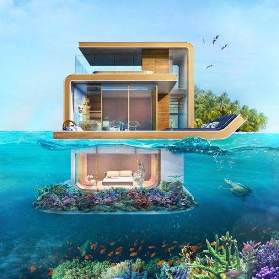 Плавающие дома в Дубае и Нидерландах