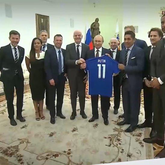 Встреча с легендами мирового футбола