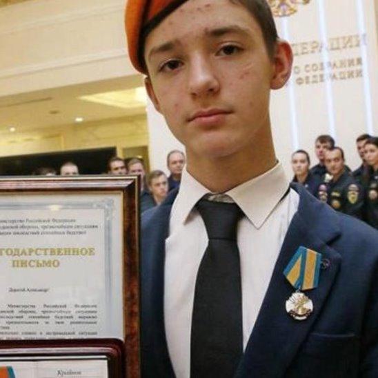 Семиклассник спасал раненых кадетов