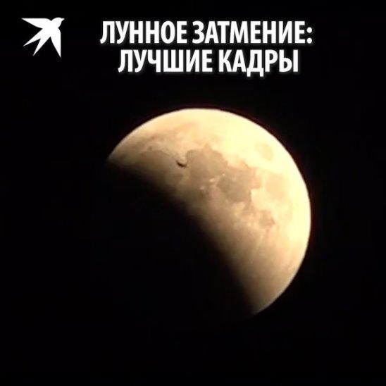Лунное затмение: лучшие кадры