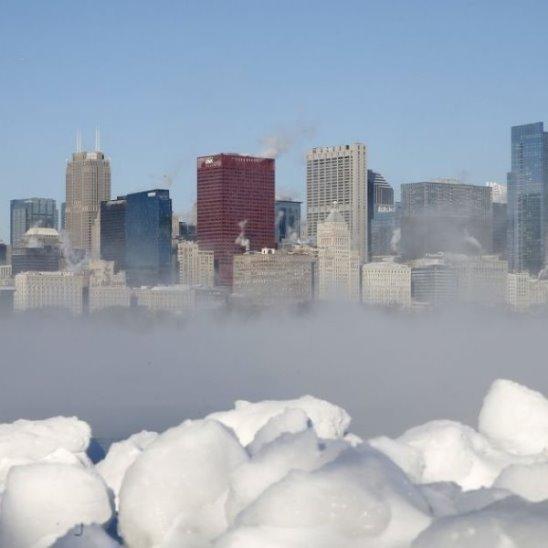 Аномальные морозы в США есть погибшие, отменены тысячи авиарейсов