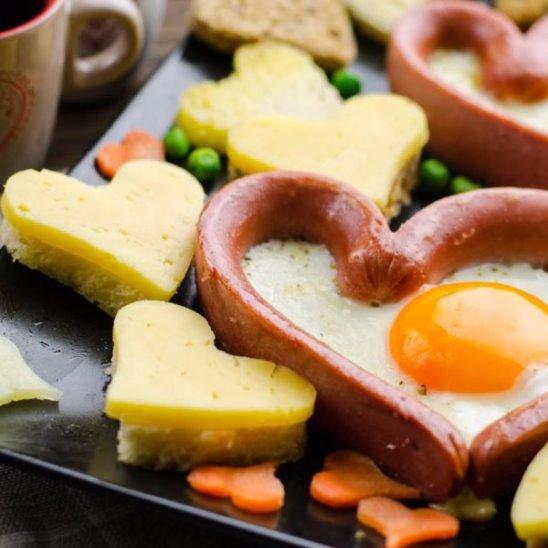 Яичница Сердце [Идеи для завтрака] - Дело Вкуса