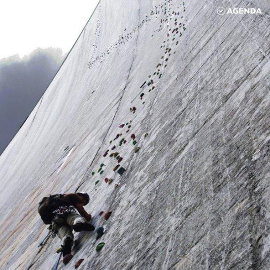 Самая высокая стена для скалолазания в мире