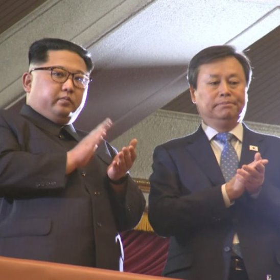 Ким Чен Ын на концерте южнокорейских музыкантов
