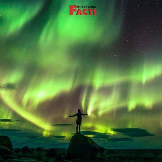 Северное сияние в небе над Финляндией Northern lights in the sky over Finland