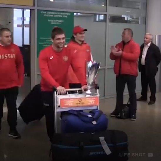 Российские дзюдоисты вернулись домой