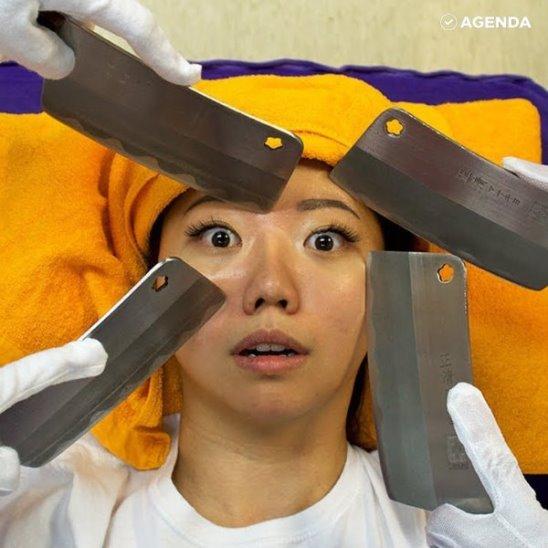 Массаж ножами