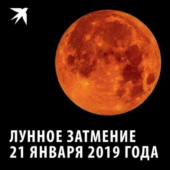 Всё лунное затмение 21 января 2019 года за одну минуту
