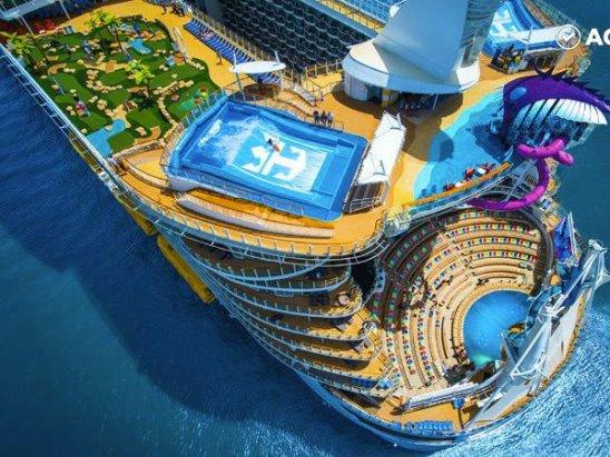 Самый большой в мире круизный лайнер Symphony of the Seas