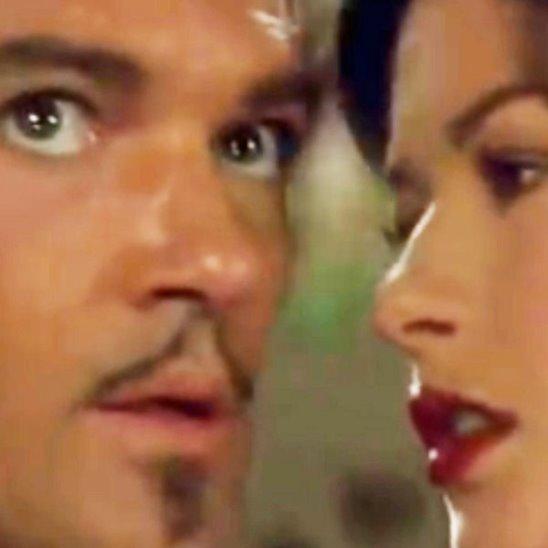 Антонио Бандерас и Кэтрин Зета-Джонс в к/ф «Маска Зорро»
