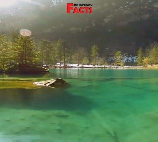 Озеро Блау (Блаузее) Швейцария.