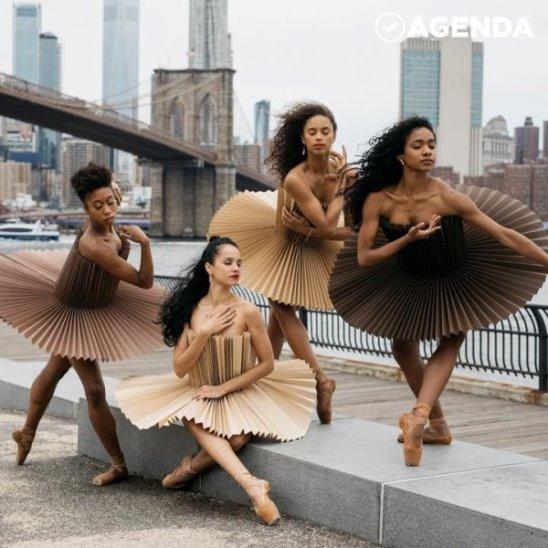 Балерины в бумажных костюмах на улицах мегаполисов