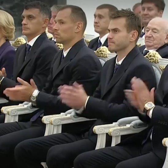 Путин поблагодарил футболистов